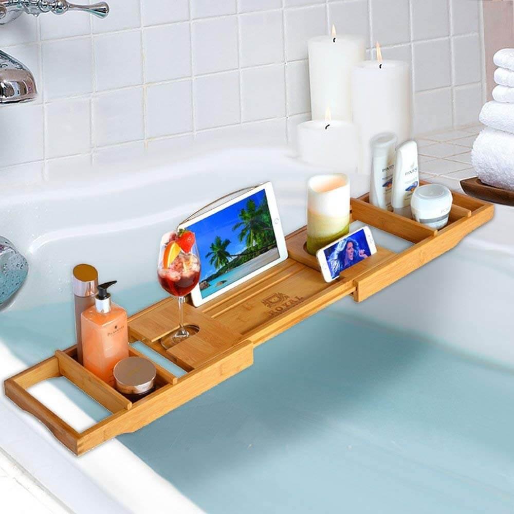 Wood Luxury Bathtub Tray