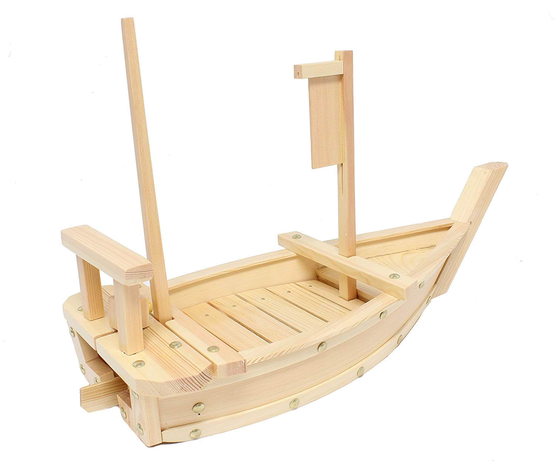 Natural Bamboo Wooden Sushi Tray Serving Boat