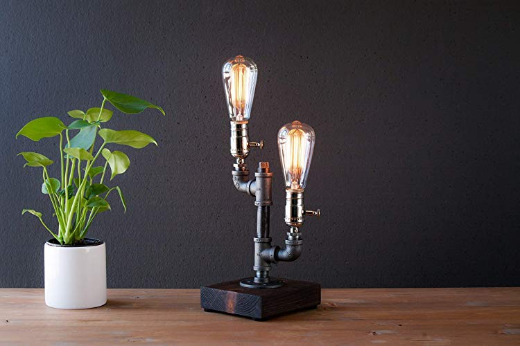 Dimming Industrial Steampunk Table Pipe Lamp