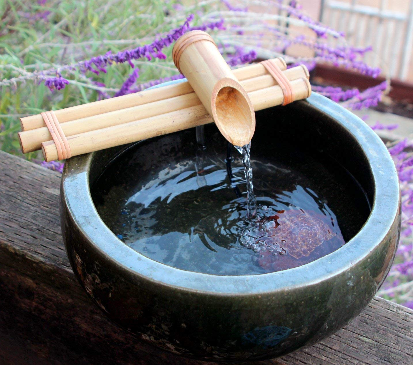Bamboo Fountain with Pump