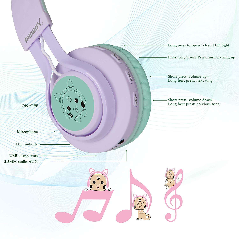 Cat Ear Bluetooth Kids Headphones