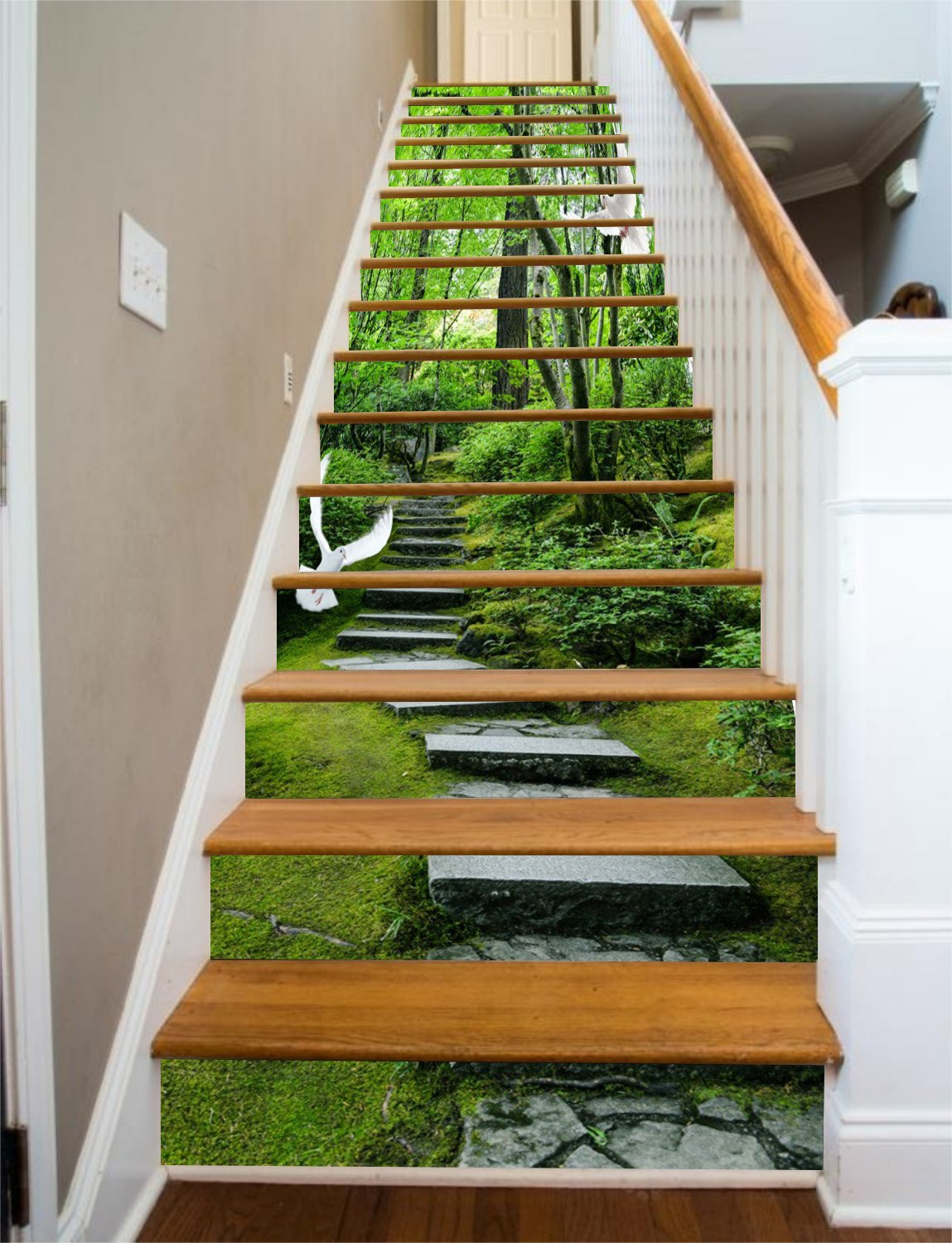 Green Road Mountain Stair Risers Decoration