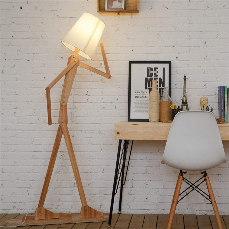 HROOME Modern Contemporary Decorative Wooden Floor Lamp Light