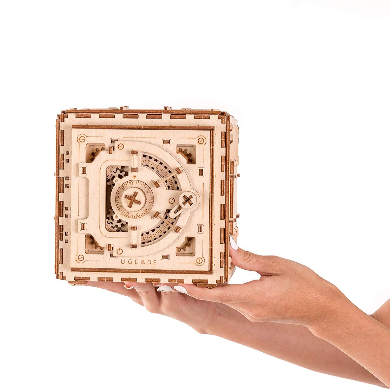 Ugears Mechanical 3D Wooden Safe