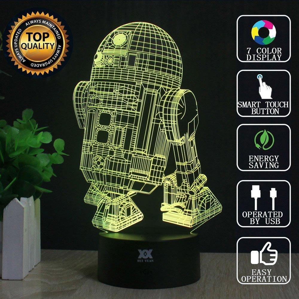3D Lamp R2-D2 Table Night Light