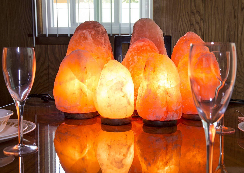 Himalayan Natural Salt Lamp Wooden Base