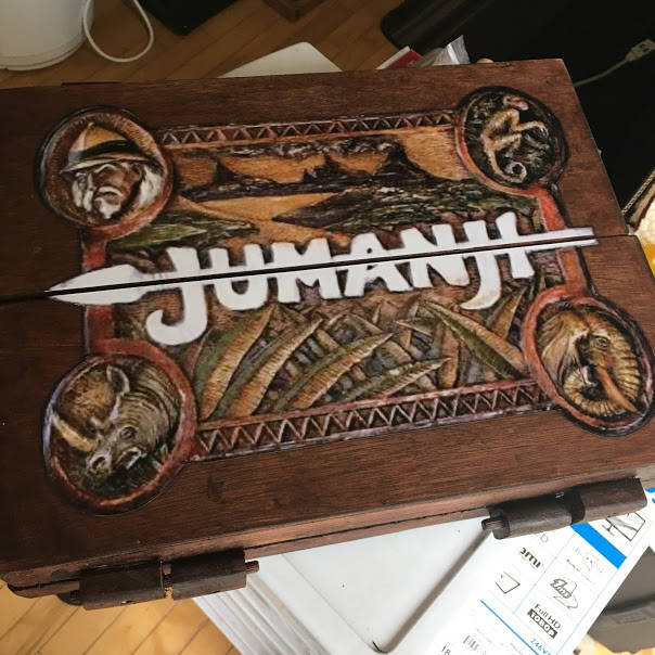 Jumanji Inspired Wooden Board Game