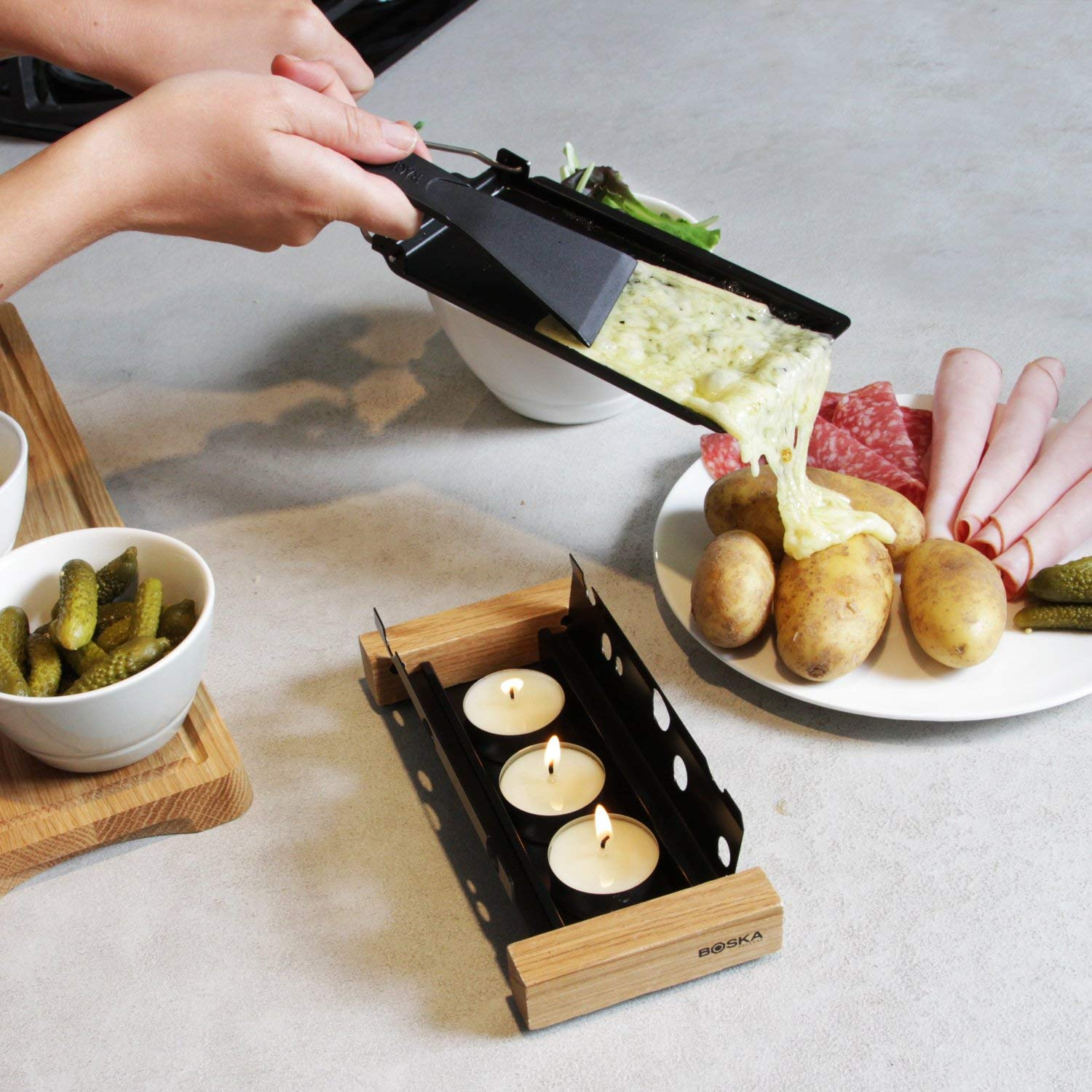 Portable Raclette for Melting Cheese