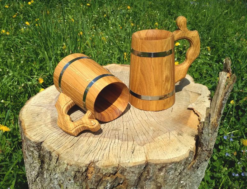 Wooden Tavern Beer Mug