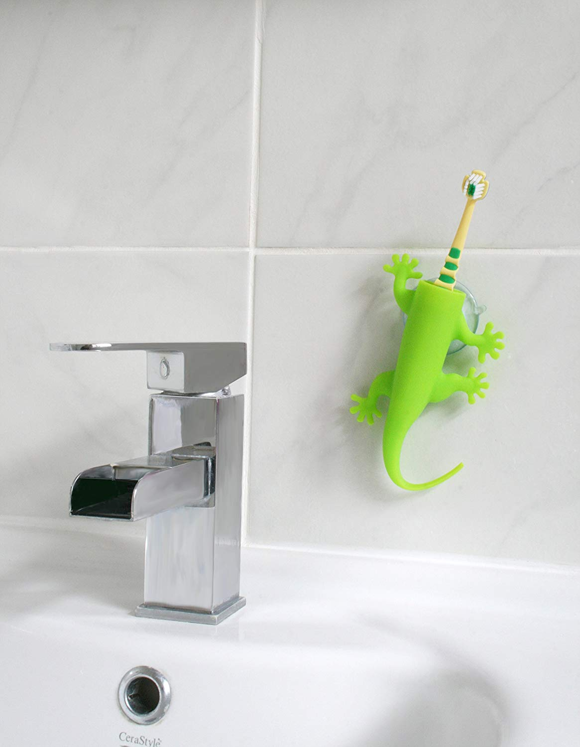 Lizard Wall Mounted Toothbrush Holder