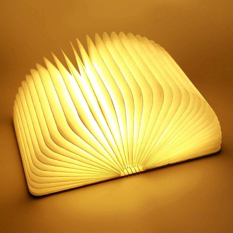 Wood Grain Folding Book Lamp