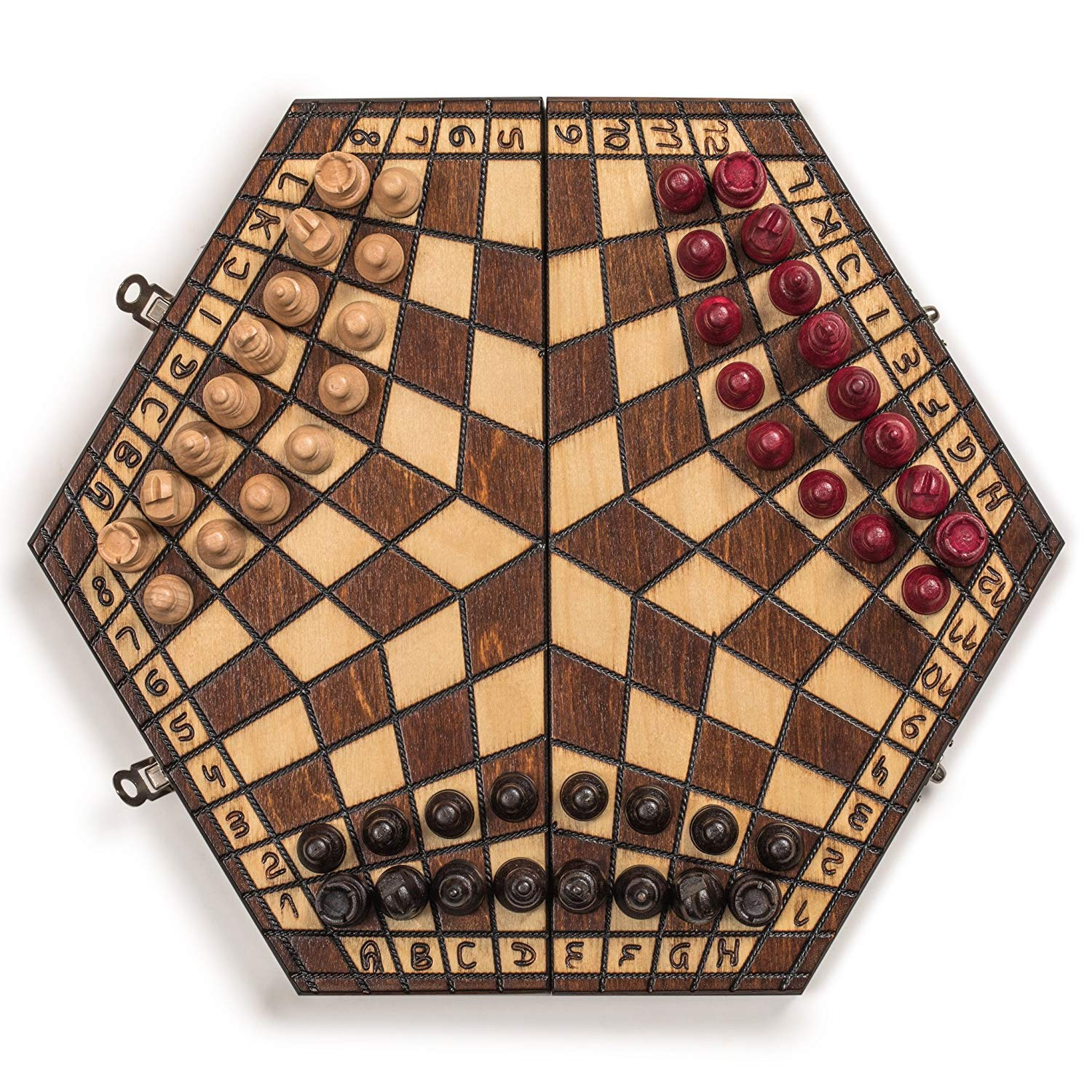 Wooden Chessboard 3 players