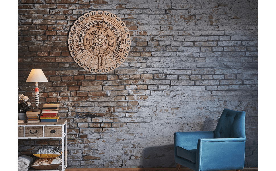 Wooden Mayan Wall Calendar