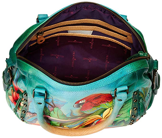 Anuschka Tropical Bliss Zip Top Handle Bag