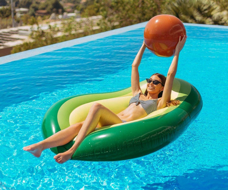 Giant Inflatable Avocado Pool
