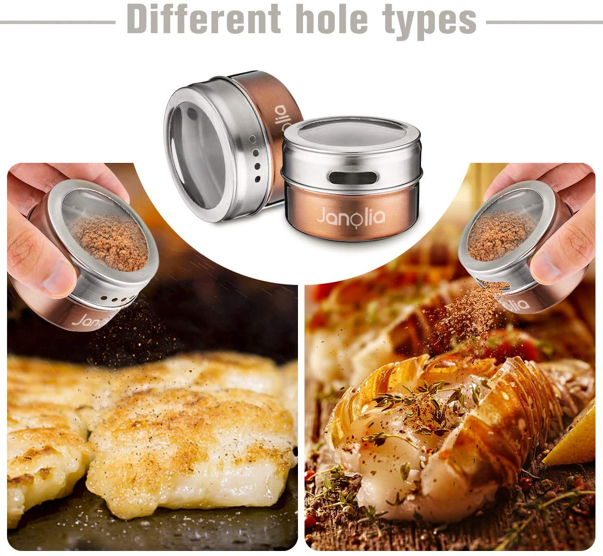 Magnetic Condiment Jars