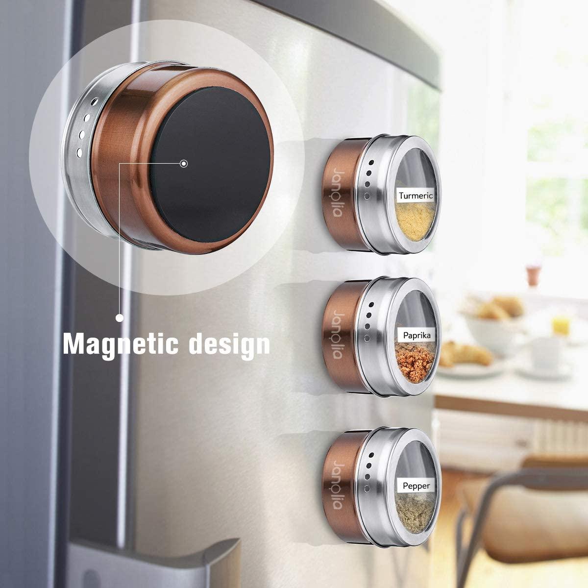 Magnetic Condiment Jars