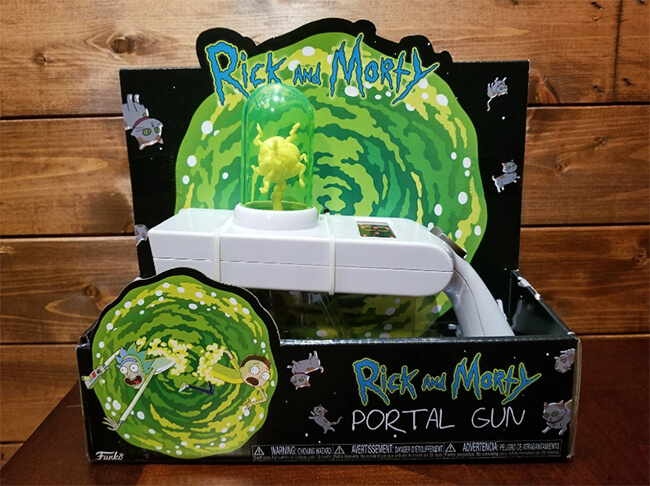 Rick & Morty Portal Gun Collectible Figure