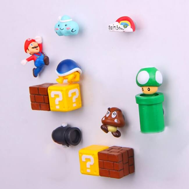 Super Mario Bros 3D Fridge Magnets