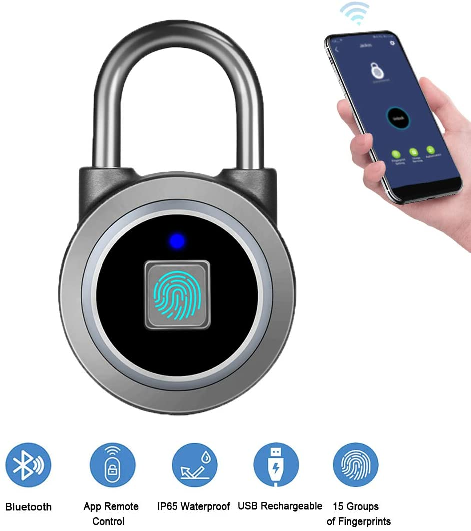 Fingerprint Padlock and Bluetooth